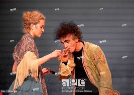 Stella Roberts as Nora (r) and Henry Arnold (Dr. Rank) during the general  rehearsal on October 3, Stock Photo, Picture And Rights Managed Image. Pic.  PAH-109944084 | agefotostock