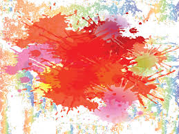 Colour Backgrounds Free Colour Splashes On The Wall Powerpoint Templates Arts Orange Red