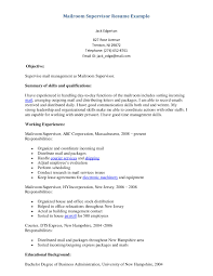 supervisor resume examples getessay biz supervisor resume example mailroom supervisor resume example inside supervisor resume