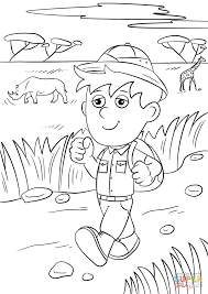 Small Picture Safari Explorer coloring page Free Printable Coloring Pages