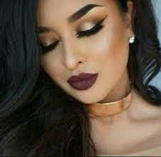 dramatic eyes dramatic eye makeup gold eye makeup winged liner gold eyes red lipsticks smokey eye makeup inspo bold lips