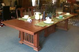 mission dining room table