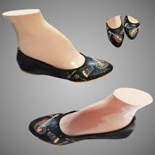 70s ballerina flats shoes nos black leather handpainted al timeless traveling vintage ruby lane