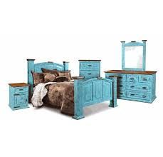 Turquoise bedroom furniture Teal Decorated Corona Turquoise Bedroom Set San Carlos Imports Turquoise Bedroom Furniture Set Turquoise Bedroom Set