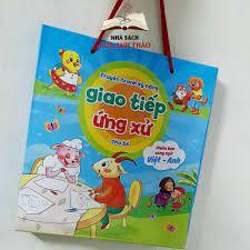 Sách - Truyện tranh kỹ năng giao tiếp ứng xử cho bé phiên bản song ngữ Việt  Anh bộ 10 quyển -có File đọc tiếng Anh