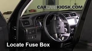interior fuse box location 2010 2017 toyota 4runner 2015 toyota 2017 Toyota 4Runner locate interior fuse box and remove cover