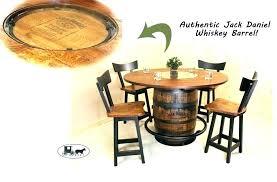 whiskey barrel table whiskey barrel bar table whiskey barrel furniture outlaw barrel rustic pub table whisky