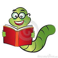 cartoon bookworm clipart 1
