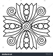 simple flower mandala pattern for coloring book pages easy fl design to color for kids
