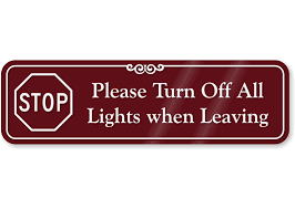 Image result for turn off the light sign