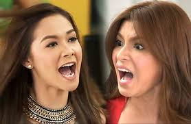 Angel Locsin and Maja Salvador Slapping Scene on The Legal Wife ... via Relatably.com
