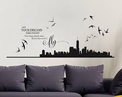 home wall stickers  on new york skyline wall art stickers with new york skyline vinyl wall art sticker new york skyline new