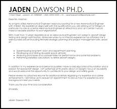 Cover Letter Aerospace Engineer Aeronautical Engineer Cover Letter