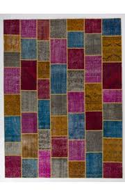 9 x 12 275x366 cm multi color patchwork rug handmade from