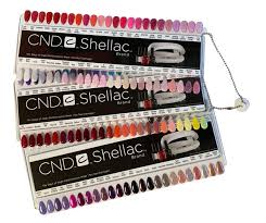 Cnd Shellac Salon Nail Tip Colour Chart Palette 128