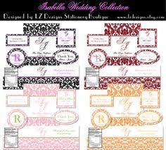 Wedding Label Templates 12 Best Wedding Labels Wedding Label Templates Images Packaging