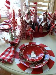 Candy Cane Table Decorations snowman table setting Gorgeous Christmas TableSettings Love 2