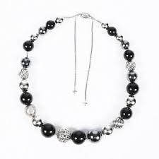 David Yurman Dy Elemence Onyx Hematite Necklace Ebay