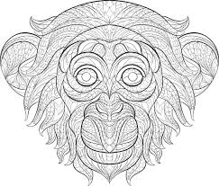 Small Picture Get This Monkey Coloring Pages for Adults 60731