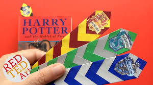 easy harry potter bookmark diy how to make a chevron bookmark diy easy paper bookmark ideas