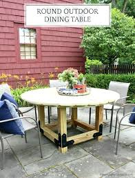 round outdoor dining table diy reclaimed wood