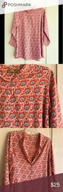Rock Flower Paper Rock Flower Paper Voile Tunic Size Large Thin Printed Tunic