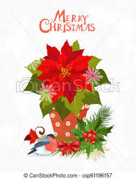 Poinsettia Card Christmas Invitation Card With Poinsettia In Pot For Your Design