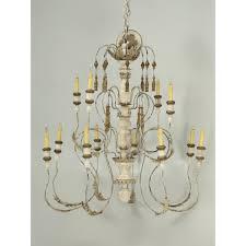 italian painted wooden chandelier