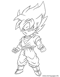 Small Picture Print Dragon Ball Z Super Saiyan Free Coloring Page Coloring Pages