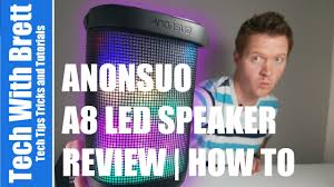 Anonsuo <b>A8 Portable Bluetooth Speaker</b> Review - YouTube