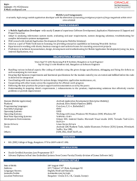 Software Testing Resume format for 1 Year Experience Inspirational android  Developer Resume Sample