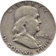 1952 Ben Franklin Half Dollar Value Cointrackers