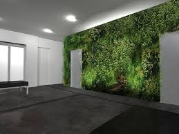 eco office. Fresh Look In The Green Office Interior Design Added With Houseplant Decoration : Eco Friendly