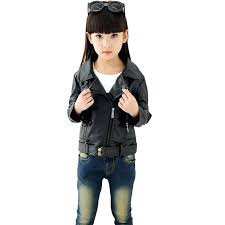 toddlers biker jacket little beauty girls leather motorcycle jackets kids outwear teenagers clothes spring and coats