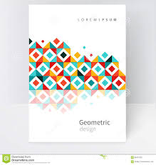 abstract geometric background cover template stock vector image abstract geometric background cover template
