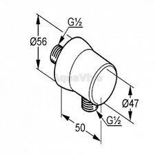 <b>Подключение шланга Kludi</b> Sirena 630610500, настенное, с ...