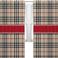 red tan plaid curtains 2 panels per set personalized lovely red and tan curtains
