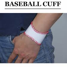 hand leather baseball softball cuff bracelet baseball softball mom leather cuff