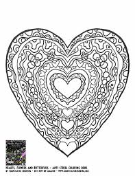 Small Picture Flower Heart Coloring Pages Coloring Pages