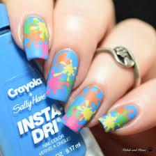 Paint Splash Nail Design The Digit Al Dozen Does Stamping Paint Splatter Polish