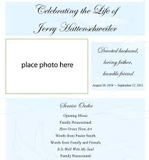 Funeral Invitation Template Free Single Funeral Template Free