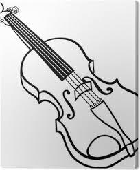 Canvas Violin Drawing Pixers We Leven Om Te Veranderen