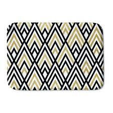 designs black white gold and memory foam bath mat runner
