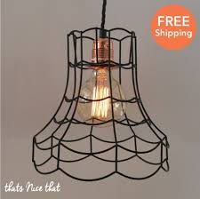 Industrial Lampshade Light Lamp Shade Frame Fitting Cage Bulb Wire