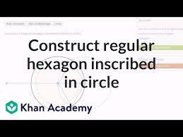 Geometric constructions: circle-inscribed regular hexagon (video ...
