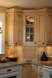Image of: kitchen corner cabinet design