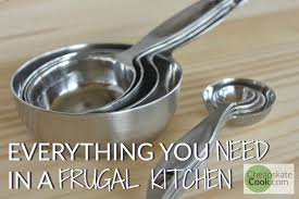 a list of everything you need to build a frugal kitchen