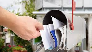 open residential mailboxes. Man Taking Letter From Mailbox Open Residential Mailboxes