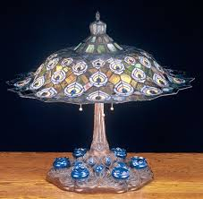 peacock lamp shade feather table shades