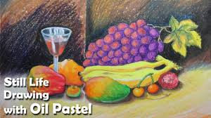 how to paint a still life fruits in oil pastel step by step you